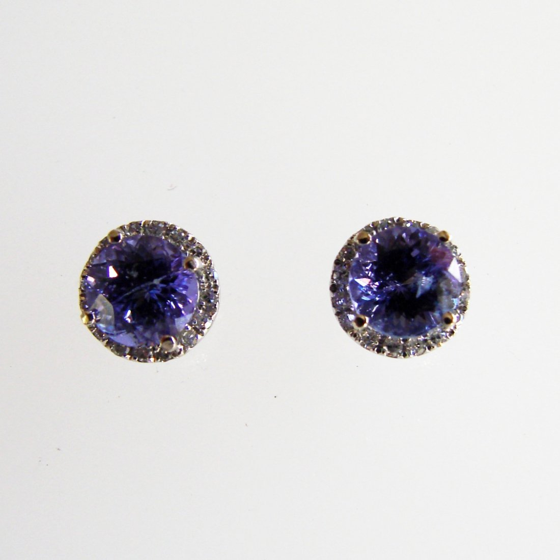 Diamonds Tanzanite Earring1.84ct 14k W/G