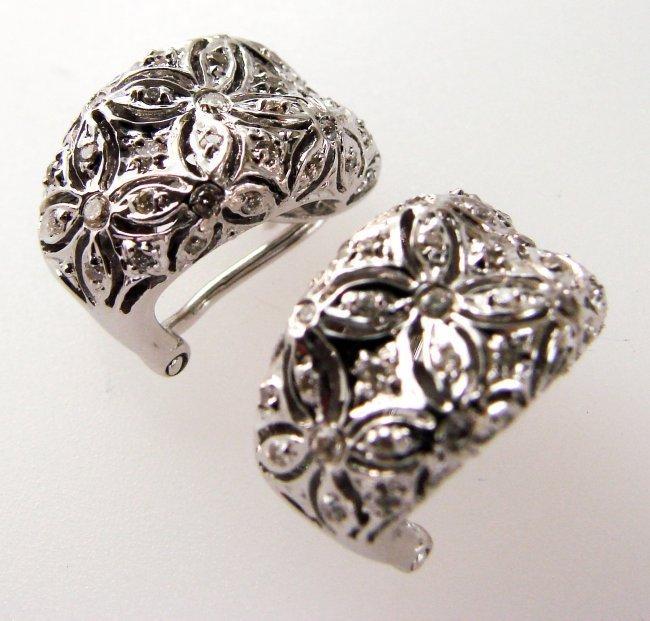1085:Stunning Diamond Earrings .53 Carat 14k W/g
