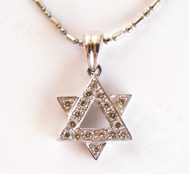 Diamond Lucky Star Pendant: .32 Carat 14k W/g