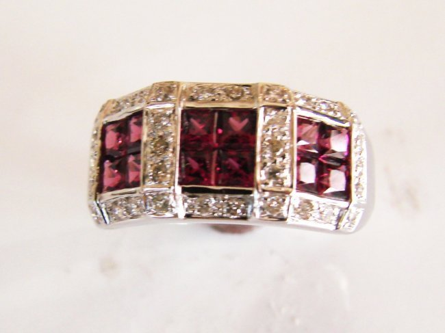 Tourmaline-Diamond Ring 1.80Ct 14k W/g