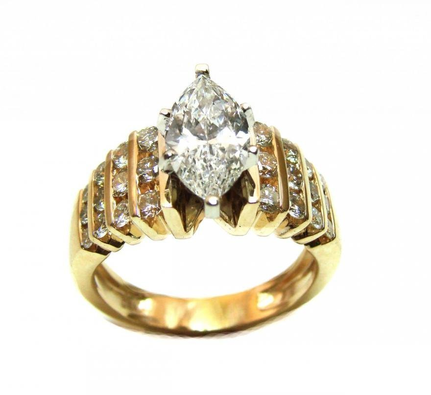 Diamond Ring 2.11 Ct 14k Yellow Gold