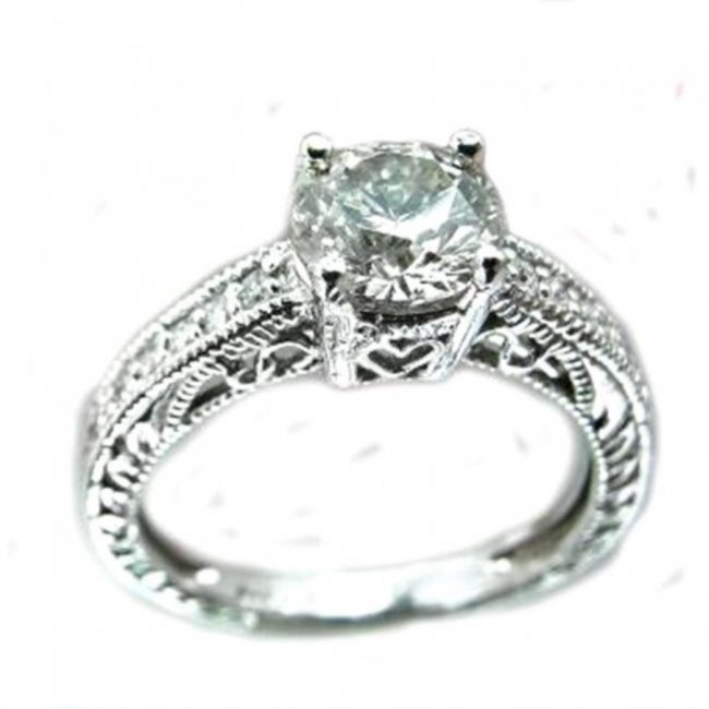 Anniversary Diamond Ring 1.50Ct 14K White Gold6