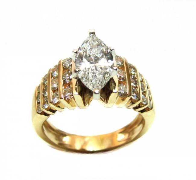 Diamond Ring 2.11 Ct 14k Yellow Gold