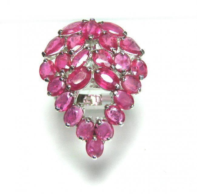 Natural Gems Ruby Ring 10.85 Carat 18k Y/g Overlay