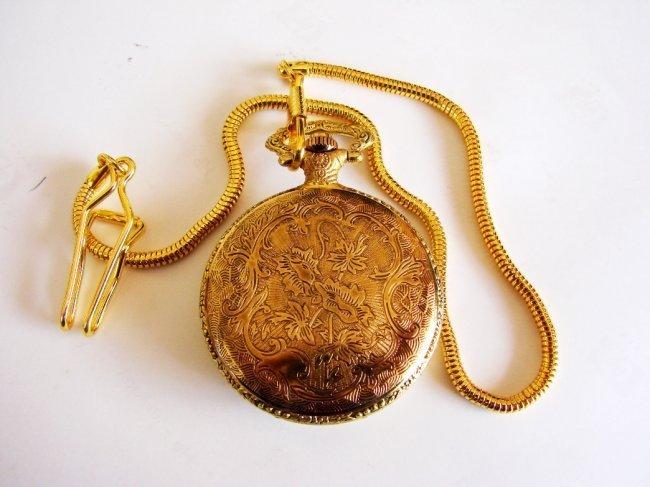 Pocket Watch 'L' Luis Cardini 18k Y/g Overlay - 3