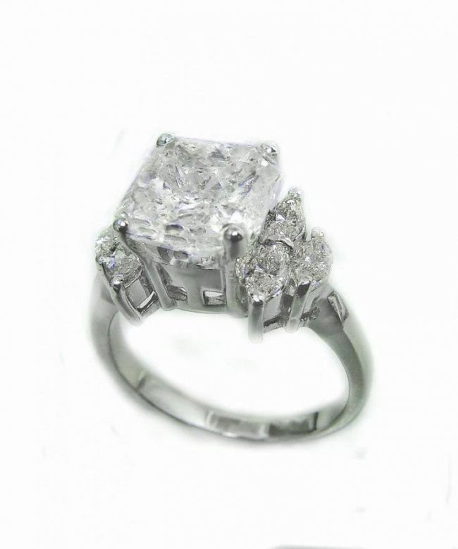 Anniversary Radiant 3.47Ct/Marquise .70Ct Diamond Ring