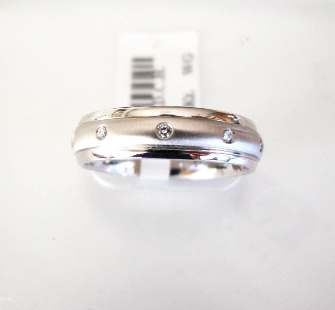 Men Wedding Ring Diamond .17Ct 14k W/g SZ-10.5