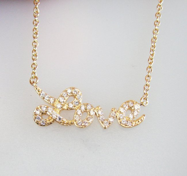 Creation Diamond Necklace .35CT 18k Y/g Over