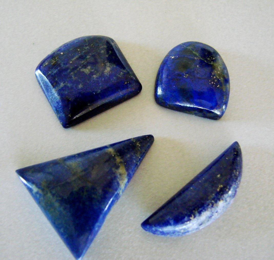 Natural Royal Blue Lapis Lazuli Lot 4Pcs/64.37Ct