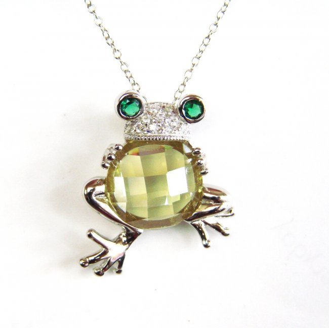 Creation Diamond/Limon Topaz/Emerald 6.10 CT