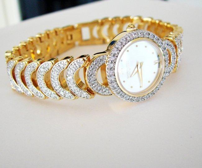 Wittnauer Ladies Watch Sapphire Crystals 18K Y/g Over - 2