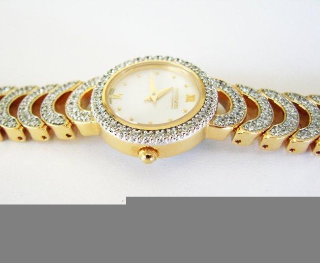Wittnauer Ladies Watch Sapphire Crystals 18K Y/g Over - 3