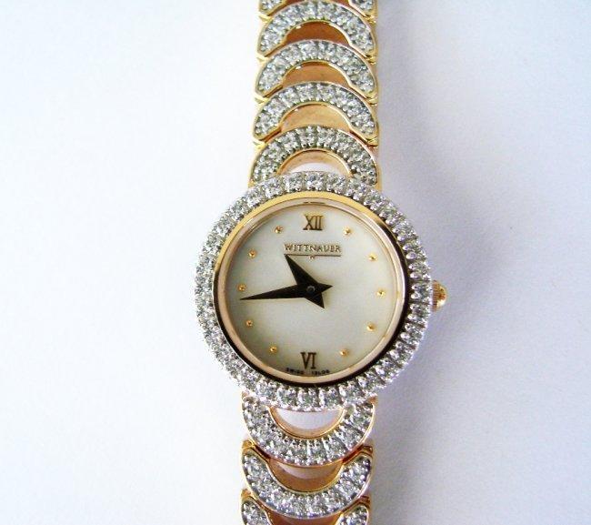 Wittnauer Ladies Watch Sapphire Crystals 18K Y/g Over - 4