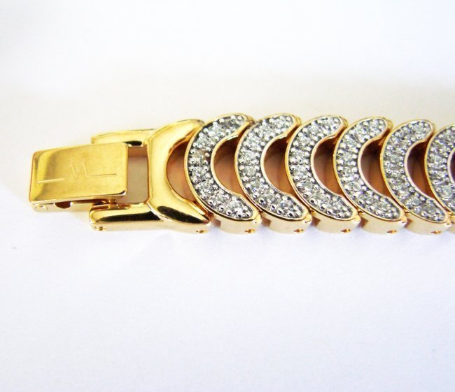Wittnauer Ladies Watch Sapphire Crystals 18K Y/g Over - 5