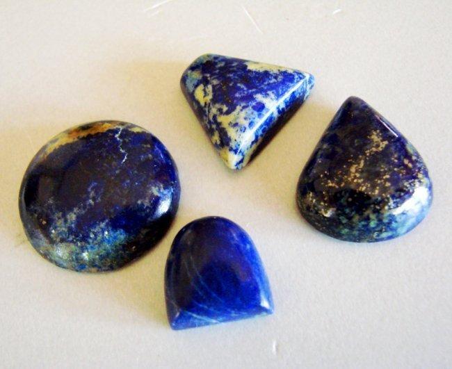 Natural Royal Blue Lapis Lazuli Lot 4Pcs/98.48Ct