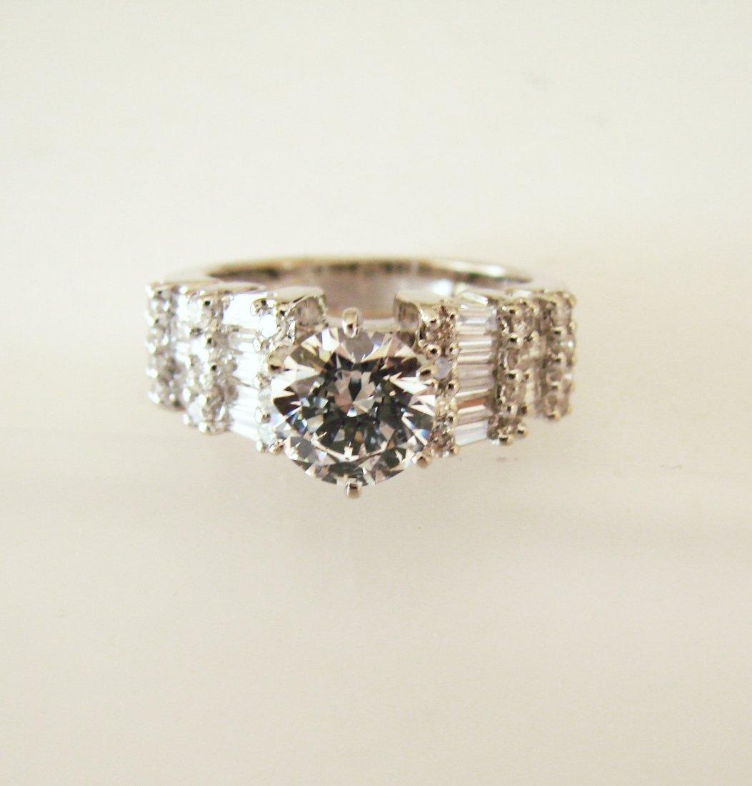 Wedding Diamond Ring 2.82 Carat 18k W/g