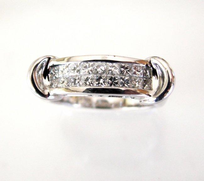 Anniversary Ring Diamond Princess Cut 1.47Ct 14k W/g