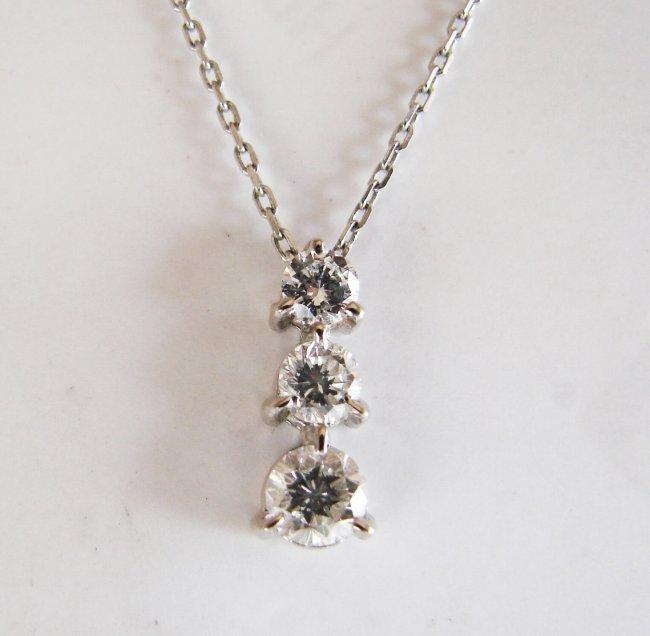Graduation Diamond Pendant .79 Carat