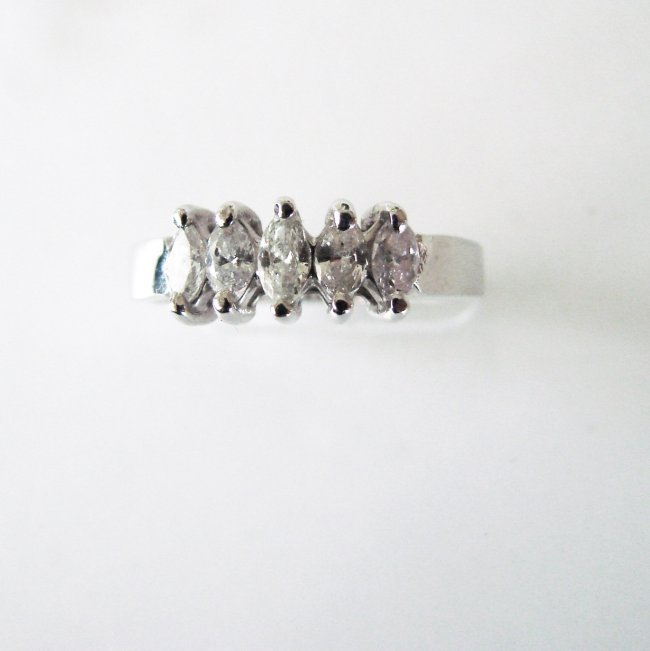 Engagement Diamond Ring .70Ct 14k W/g - 2