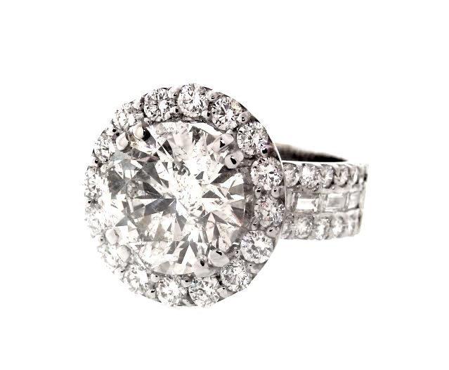 Anniversary Diamond Ring 4.07 Carat 14K W/G - 2