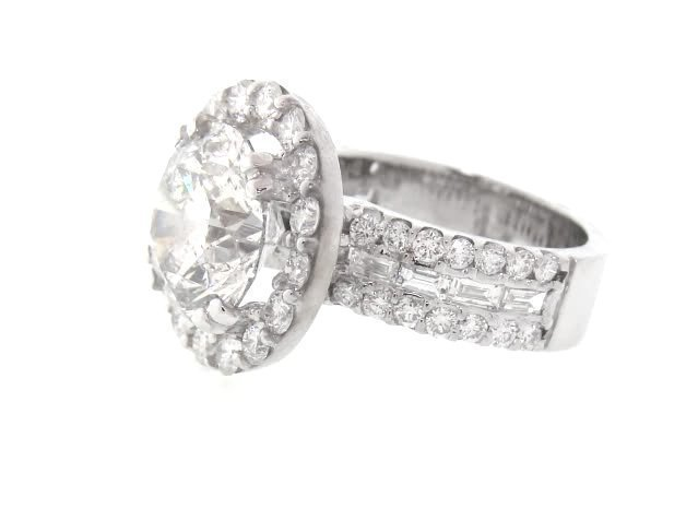 Anniversary Diamond Ring 4.07 Carat 14K W/G - 3
