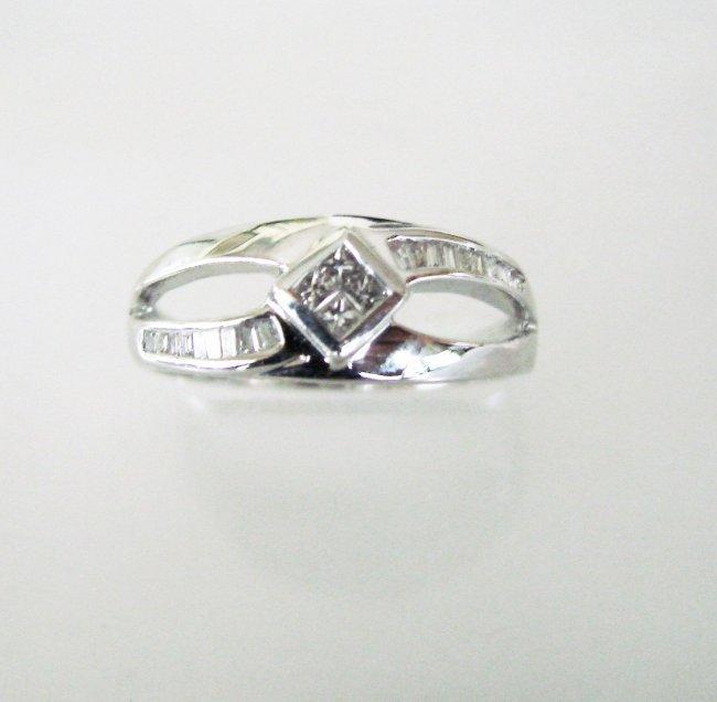Engagement Diamond Ring .46Ct 18k W/g