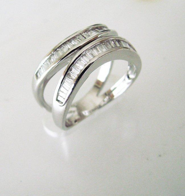 Engagement Diamond Ring 1.52Ct 18k W/g