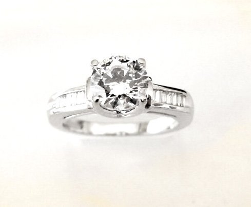 Wedding Diamond Ring 1.97 Carat 18k W/g