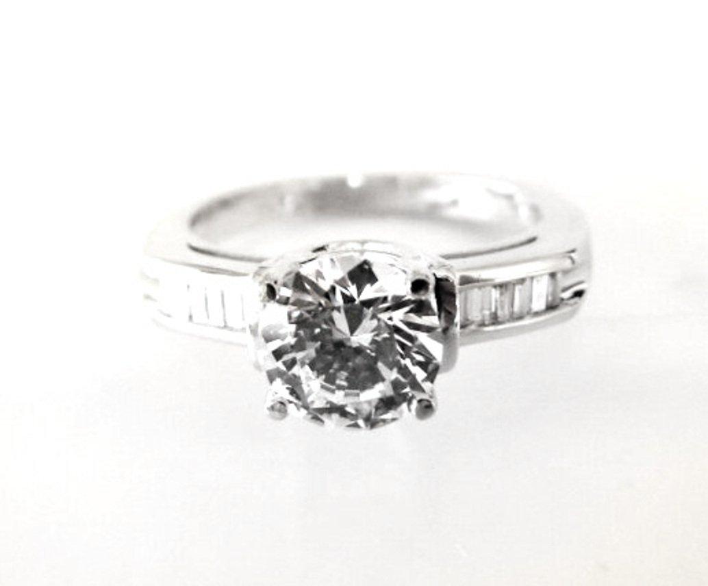Wedding Diamond Ring 1.97 Carat 18k W/g - 2