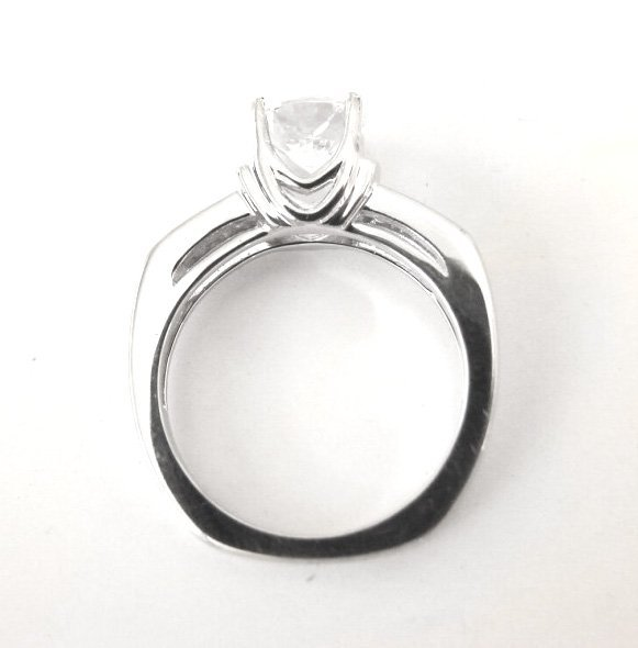 Wedding Diamond Ring 1.97 Carat 18k W/g - 6