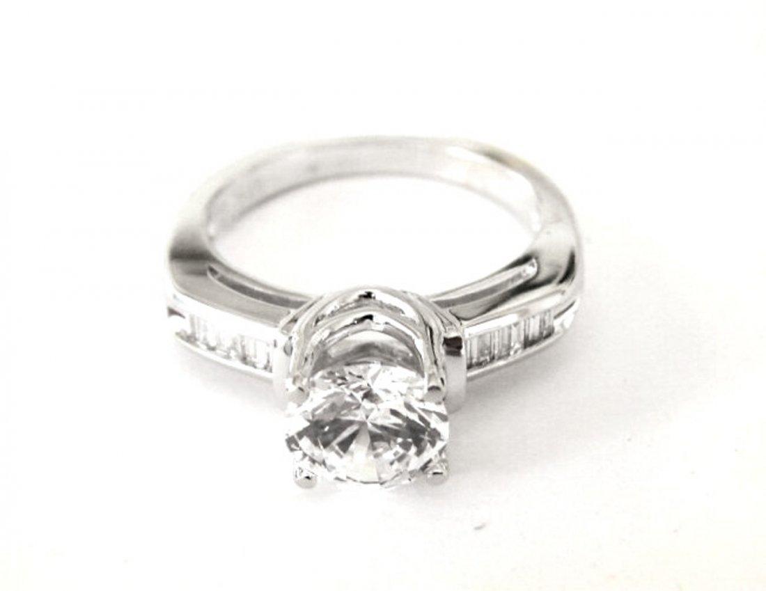 Wedding Diamond Ring 1.97 Carat 18k W/g - 7