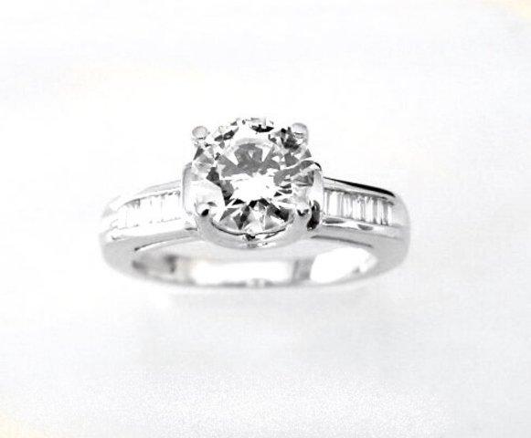 Wedding Diamond Ring 1.97 Carat 18k W/g
