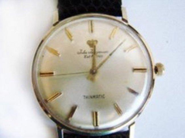 Vintage Jules Jurgensen 14k Gold Mens Wrist Watch - 2