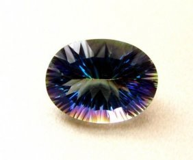 Top Rainbow Mystic Topaz Oval Concave 17.55ct