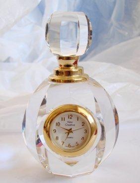 New Creative Quartz Clock Crystal 18k Y/g Filled