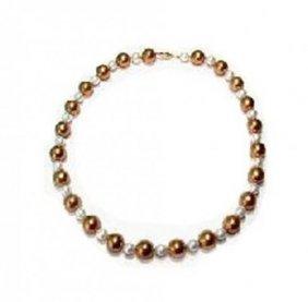 Multi Color Swarovski Necklace14k Y/g Filled