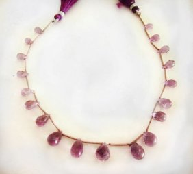 Natural Amethyst Pear Bit 45.00ct Sz 4-8 Mm