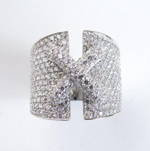Creation Diamond  Ring 3.20Ct18k W /g Over