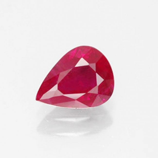 Natural Ruby Pear Facet 1.53Ct 8.1x5.7x4.2mm