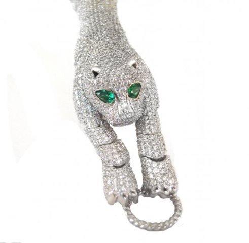 Creation Diamond Juguar Bracelet 23.05Ct 18kW/g Overaly - 2