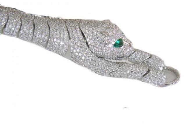 Creation Diamond Juguar Bracelet 23.05Ct 18kW/g Overaly - 3