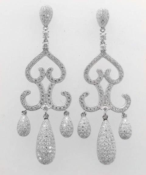 Creation  Diamond Earring 2.75Ct 18k W/G Overlay