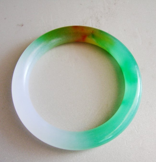 Natural Jadeite Jade Bangle Grade A Size: 8