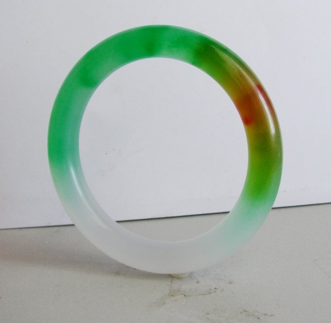 Natural Jadeite Jade Bangle Grade A Size: 8 - 3