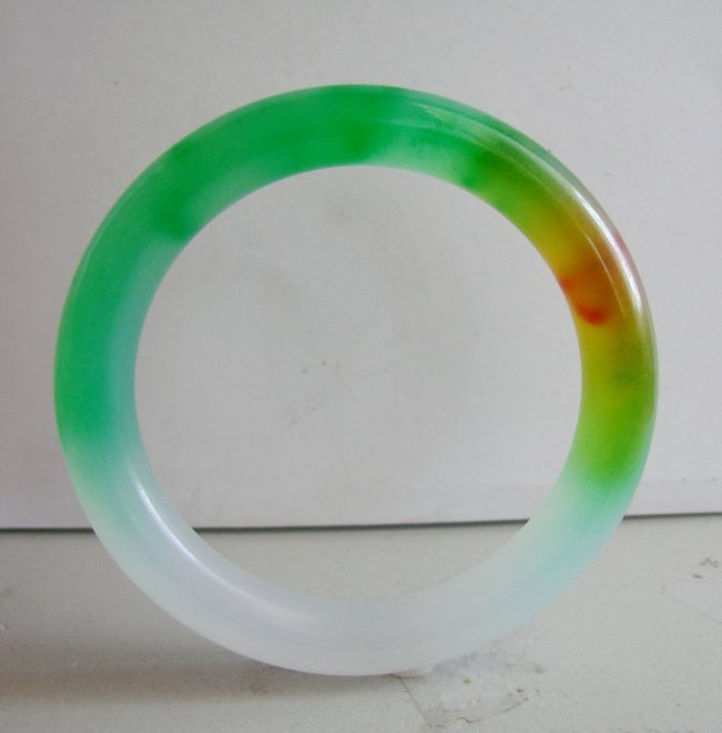Natural Jadeite Jade Bangle Grade A Size: 8 - 4