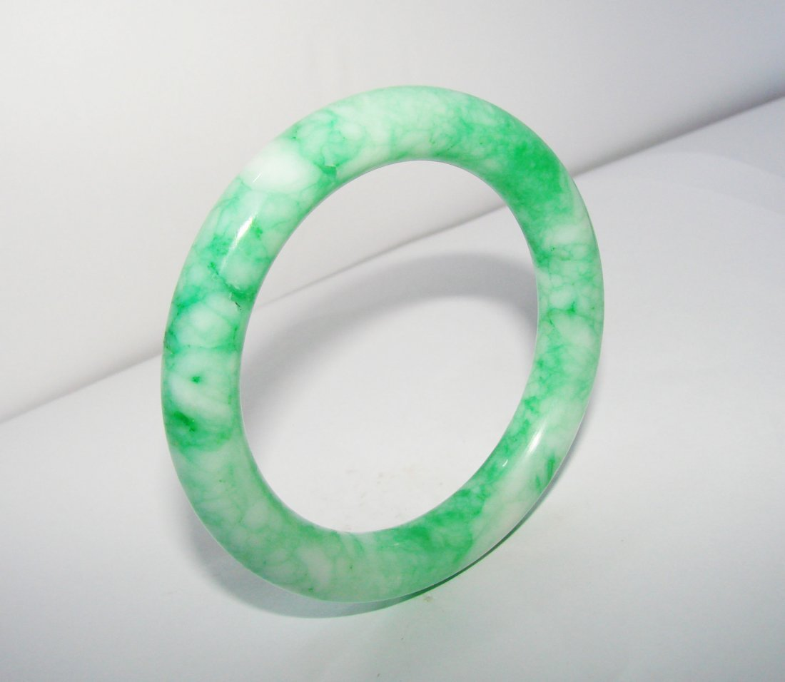 Natural Jade Bangle Grade A Inner Diameter :56mm