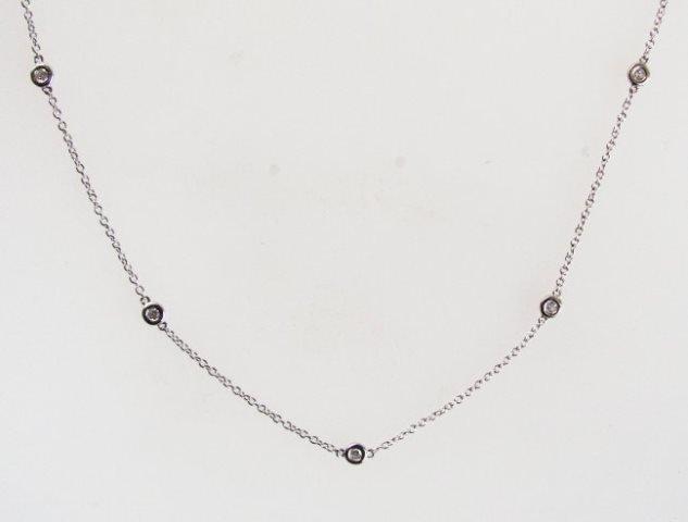 Ceation DiamondTiffany Chain .90Ct 18k W/g Over