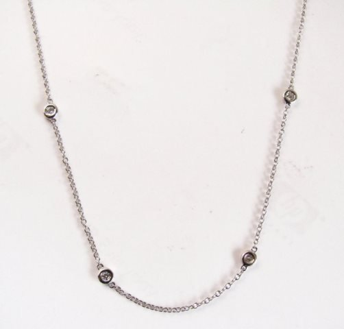 Ceation DiamondTiffany Chain .90Ct 18k W/g Over - 2
