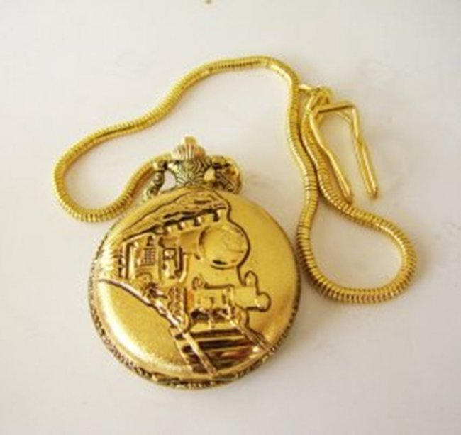 Pocket Watch 'L' Luis Cardini 18k Y/g Overlay - 2