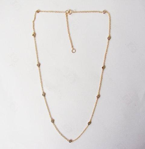 Ceation Diamond Tiffany Chain .90Ct 18k Y/g Overlay - 2